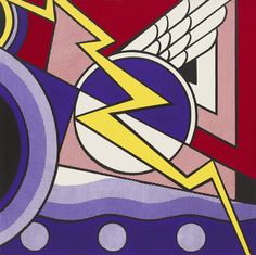 Roy Lichtenstein. Modern Painting with Bolt. 1967. MoMA Collection.
