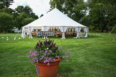 Romantic Tented Wedding in the Gardens at Elm Bank in Wellesley, MA   Southern New England Weddings   Rich Geada Photography