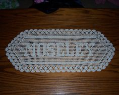 Filet Crochet | How to Graph a Pattern for a Filet Crochet Name Doily - Associated