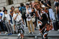 anna dello russo  #streetstyle #fashion #trends2016 #fashionstyle   http://www.bykoket.com/inspirations/category/trends/fashion