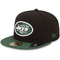 7ef53e0986f New Era New York Jets Two-Tone 59FIFTY Fitted Hat - Black Green. New York  JetsNflGreenCaps ...