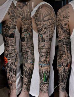 El Mori, tattoo artist Munich, Germany el-mori-tattoo.com