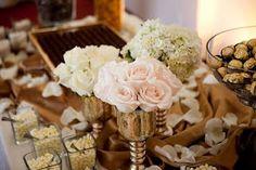Dessert Buffet. LOVE the Roses!