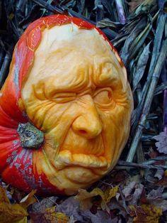 Hyper realistic pumpkin carving