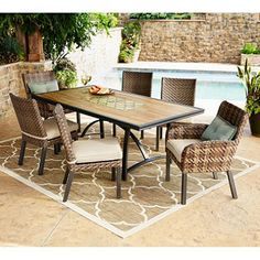 Member's Mark Essex 7-Piece Dining Set with Premium Sunbrella Fabric