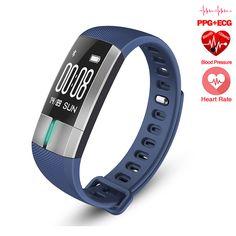 ECG+PPG Monitoring Health Smart Bracelet Fitness Activity Tracker Blood Pressure Wristband Heart Rate Smart Band VS Plus Bracelet Fitbit, Smart Bracelet, Bracelet Watch, Fitness Tracker, Fitness Activity Tracker, Ecg, Bluetooth, Fitness Bracelet, Wearable Device
