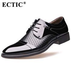 ff08424d141c 26.75  ECTIC Hommes Oxford Robe Chaussures De Luxe Chaussures Pour Hommes  Bout Pointu Bureau D affaires Costumes Hommes Chaussures Formelle Chaussures  ...