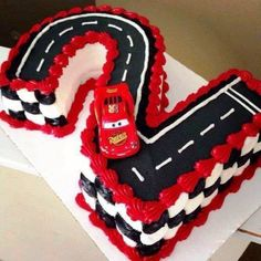 Cars Birthday Party Food Ideas Lightning Mcqueen New Ideas Baby Boy Birthday Themes, Race Car Birthday, Disney Cars Birthday, Party Themes For Boys, Cars Birthday Parties, Cake Birthday, Birthday Ideas, 2nd Birthday Party For Boys, 4th Birthday