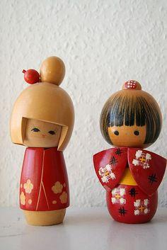 Cuties. Kokeshi Friends.