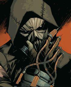 Scarecrow From Arkham Knight Comic Gotham Villains, Comic Villains, Comic Book Characters, Comic Character, Comic Books Art, Comic Art, Batman Arkham Knight Villains, Batman Arkham Asylum, Nightwing