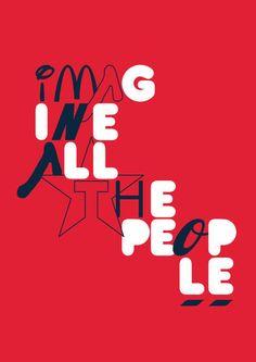 'Imagine All The People.', art print by Hani Abusamra  on artflakes.com
