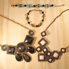 Maxi colares e pulseiras na Laços de Filó.  www.lacosdefilo.com