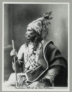 Iroquois man - Chief? - 1871 - Photo by ???