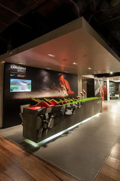 Very cool shoe display | City Lighting Products | Commercial Lighting | www.facebook.com/CityLightingProducts