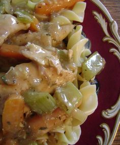 Crockpot Country Chicken - so easy. No need to heat up the kitchen!! So yummy!