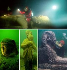 Lost for 1600 years the fabled city of Alexandria was lost – until just 16 years ago. The famed stage of historic interactions between Cleopatra, Julius Caesar, Marc Antony and Octavius was lost under the water. The royal residences, as archeologists discovered, were slowly sent to the bottom of the sea after a series of earthquakes and tsunamis. The ancient Alexandria had over 500,000 residents and was known for its library with over 700,000 scrolls.