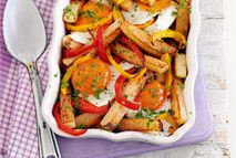 Egg, chip and pepper bake – Recipes – Slimming World