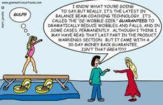 De-Wobbleizer by Marc Jacobs - Gymnastics Cartoons - Gymnastics Memes Gymnastics Coaching, Gymnastics Videos, Acrobatic Gymnastics, Gymnastics Photos, Gymnastics Photography, Gymnastics Workout, Gymnastics Girls, Gymnastics Things, Gymnastics Training