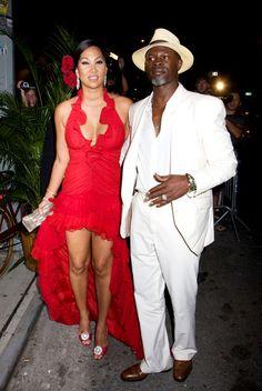 Kimora Lee Simmons and Djimon Hounsou