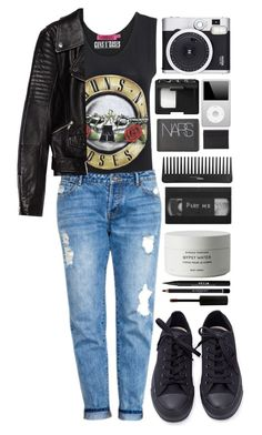 """Estranged"" by ellac9914 ❤ liked on Polyvore featuring Boohoo, Converse, Retrò, Sephora Collection, NARS Cosmetics, Maison Margiela, Zara, Byredo, Stila and Givenchy"