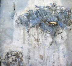 chi of blue ~ mixed media ~ by linelle lemoine