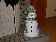 Very similiar to a snowman craft I taught a few years ago in our fall craft classes held at Richlands Middle School.