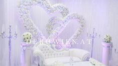 Blumenherzen ineinander verschlungen Höhe 270cm Chair, Home Decor, Wedding, Decoration Home, Room Decor, Interior Design, Home Interiors, Chairs, Interior Decorating