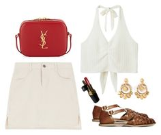 """Cannes, 1972"" by radvilek ❤ liked on Polyvore featuring Yves Saint Laurent, Monki, ASOS, Chanel and Dolce&Gabbana"