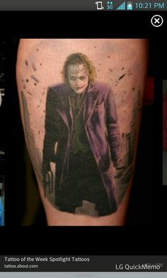 Epic Joker tattoo!