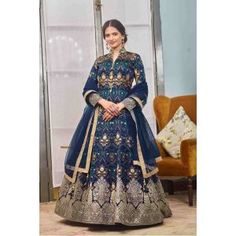 Buy Gowns - Discover the wide range of designer gowns online Party Wear Gowns Online, Party Wear Long Gowns, Gown Dress Online, Silk Anarkali Suits, Anarkali Dress, Lehenga, Salwar Suits, Ethnic Gown, Indian Ethnic Wear