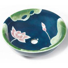lotus vessel sinks | Baden Lotus Blossom Porcelain Vessel Sink