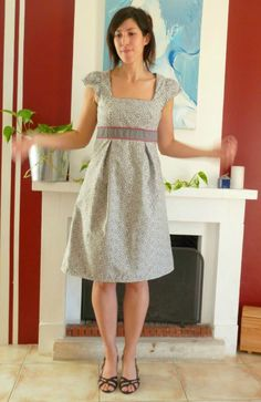 Patron burda gratuit - simplicity pattern lengthened to a dress