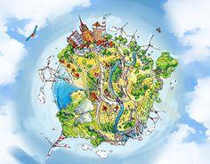 """Popatrz na ten projekt w @Behance: """"Electric world"""" https://www.behance.net/gallery/22232727/Electric-world"""