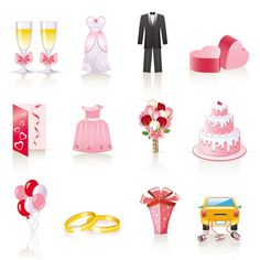 free vector Pink cartoon wedding jewelry vector graphic available for free download at 4vector.com. Check out our collection of more than 180k free vector graphics for your designs. #design #freebies #vector