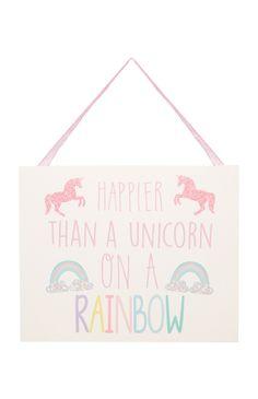 Primark - Unicorn Hanging Plaque