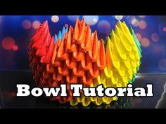 3D Origami Bowl Tutorial - YouTube