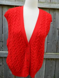 Vintage Red Pendelton Wool XL Sweater Vest / Layering Vest / Womens Plus Size Sweater Vest by VintageBaublesnBits on Etsy