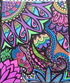ColorIt Calming Doodles Volume 1 Colorist: Julee Banks #adultcoloring #coloringforadults #doodle #coloringpages