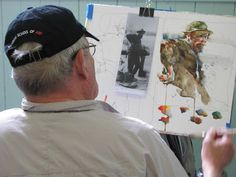 Plenty of helpful advice & photos for quicker portrait watercolor painting.  The Watercolour Log: Charles Reid at Stow - 5 - 11 May 2013