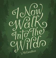 into the wild...