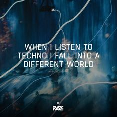 When I listen to Techno I fall into a different world 🌍🎧