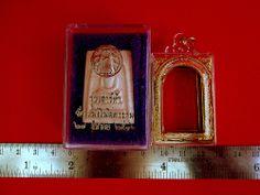 Thai Amulet Phra Somdej Wat Rakang 2536 Buddha Blessed+Cased+Temple Box Charm