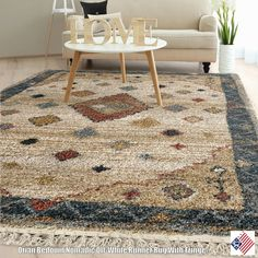 Nomadic off White invites you to embrace your inner nomad and let your eyes travel through this rugs irregularly detailed, earthy pattern on an off-white base. With warm shag offset by fun fringe, this rug is an ideal centerpiece for your favorite casual spaces.