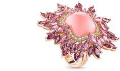 Splashing Vivaldi Collection by Damiani, pink opale ring