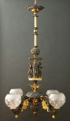 a fourlight gasolier charles clark dealer in american antiques - Antique Light Fixtures