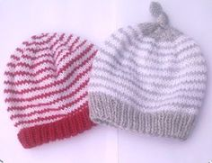 Easy knit hat patterns are perfect for baby. Keep your little angel's head warm with these free knitting patterns. Knitted baby hats are a quick project and they're extra cute, so make one today! Baby Hat Knitting Pattern, Baby Hat Patterns, Baby Hats Knitting, Knitting For Kids, Knitting Patterns Free, Knit Patterns, Free Knitting, Knitted Hats, Free Pattern