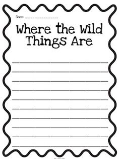 "Activity: ""Where the Wild Things Are"" -sequencing,vocabulary,word ..."