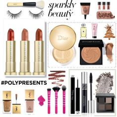 #PolyPresents: Sparkly Beauty #sparkly #sparkling #cosmetic #beauty #urbandecay #dior #mac #ysl #realtechnique #jomalone #smashbox #3ce #bobbibrown