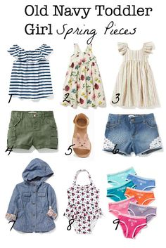 In Kaia's Cart: Old Navy Toddler Girl Spring 2017 Toddler Swag, Old Navy Toddler Girl, Toddler Boy Fashion, Toddler Girl Style, Toddler Girl Outfits, Kids Fashion, Fashion 2015, Fashion Lookbook, Fashion Spring