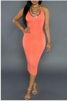 Orange Bodycon from www.mavenofswank.com